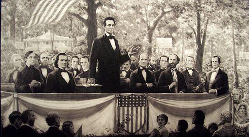 Lincoln debating douglas