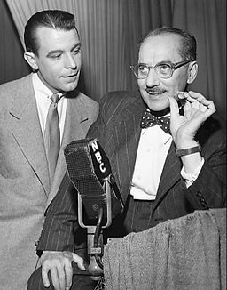 George Fenneman and Groucho Marx You Bet Your Life 1951
