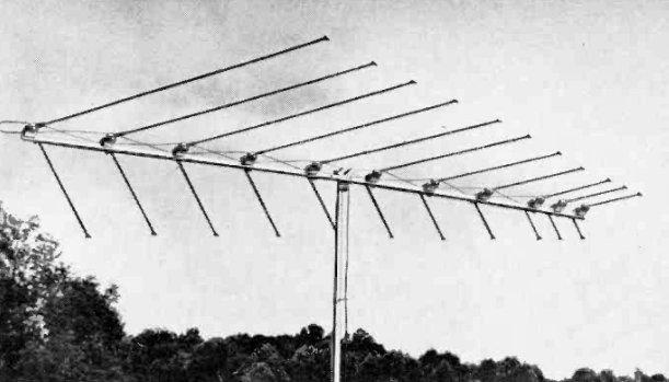 Log periodic VHF TV antenna 1963