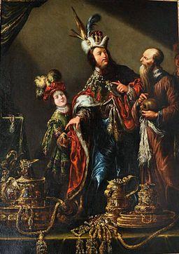 Claude Vignon and Workshop - Croesus showing Solon his treasures