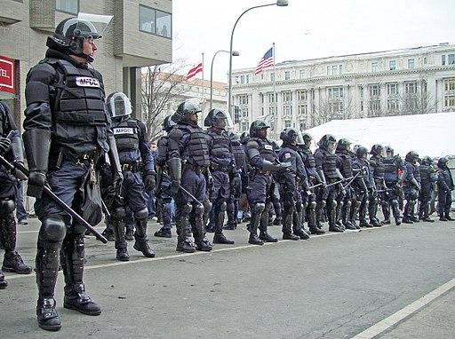 January 20 riot cops D.C.