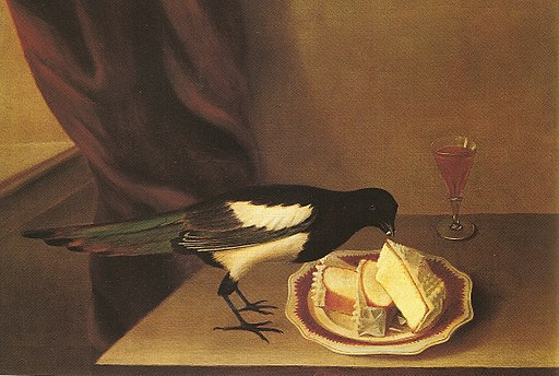 Magpie eating cake-rubens peale