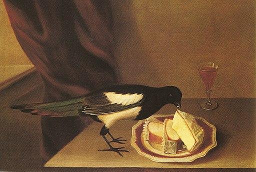 Magpie eating cake-rubens peale