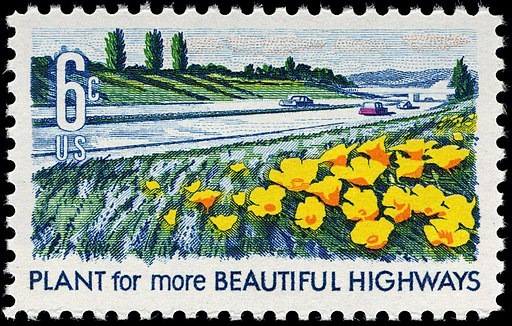 Beautification of America Highways 6c 1969 issue U.S. stamp