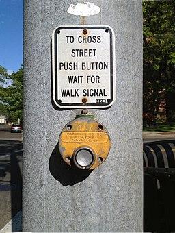 Pedestrian walk signal device NY