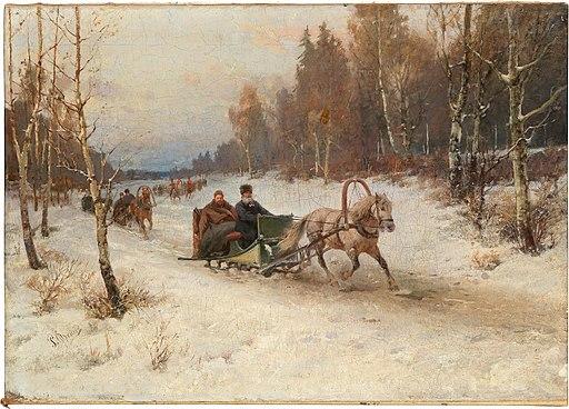 Rudolf Ferdinandovich Frentz - Sleigh Ride in Winter