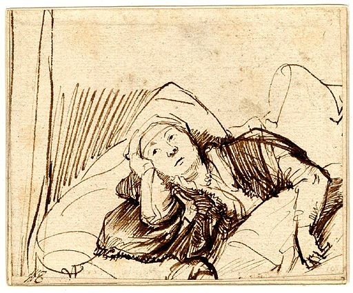 Rembrandt Saskia in Bed
