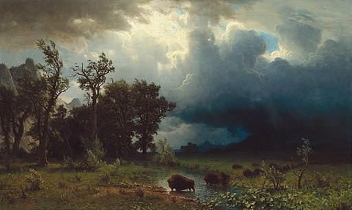 Albert Bierstadt - Buffalo Trail, The Impending Storm
