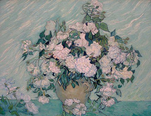 White Roses-1890-Vincent van Gogh