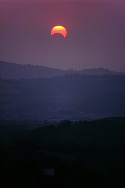 Partial Eclipse of the Sun - Montericco, Albinea, Reggio Emilia, Italy - May 1994 03