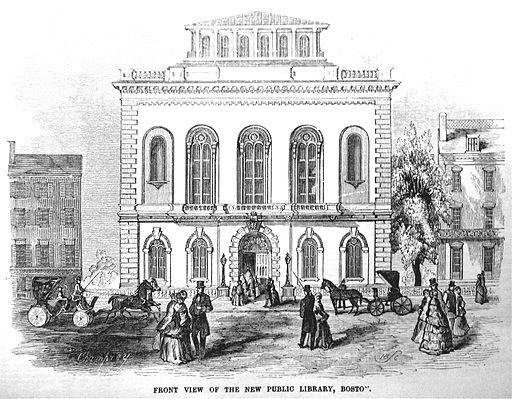 BostonPublicLibrary BoylstonSt 1850s