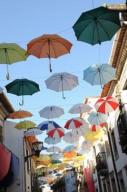 Guarda-chuvas em Cerveira