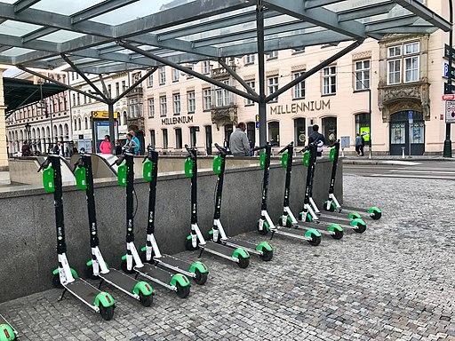 Lime e-scooters, Masarykovo nádraží