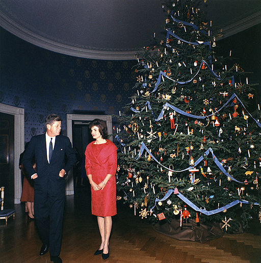 1962 White House Christmas Tree - John and Jacqueline Kennedy 1