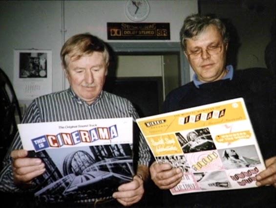 Cinerama historians John Harvey and Willem Bouwmeester 1987
